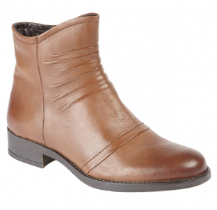 Lotus Womens Bannock Tan Leather Ankle Boots